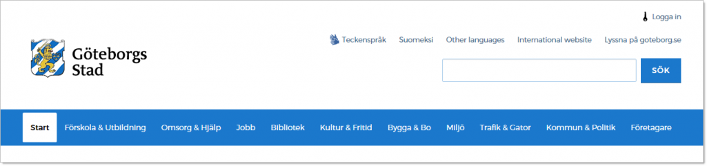 Verktygsnavigering - mobilanpassning av goteborg.se