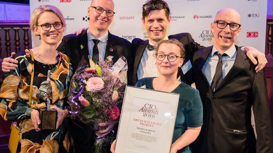 Smarta Kartan vinner pris för årets hållbara projekt